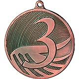 kaufdeinschild 10 Stück Medaille MD1291 aus Stahl, Zahlen 1,2,3 Gold/Silber/Bronze
