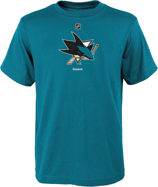 NHL San Jose Sharks Boys 8-20 Primary Logo Short Sleeve Tee, Teal, Large(14-16)