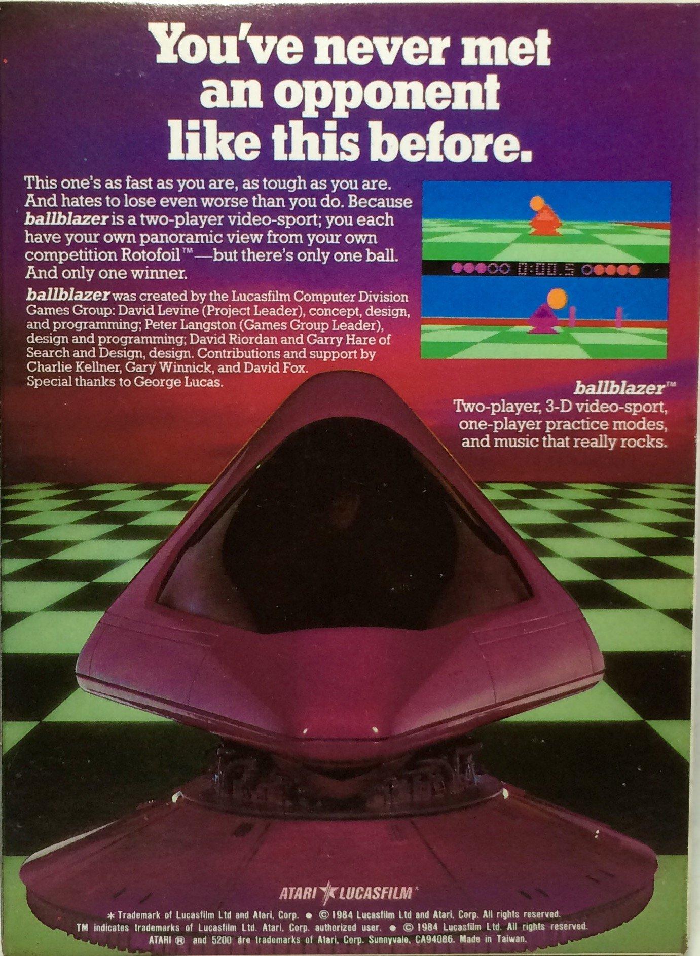 Ballblazer - Lucasfilm - NTSC - Atari 5200 Supersystem by Lucasfilm (Image #2)