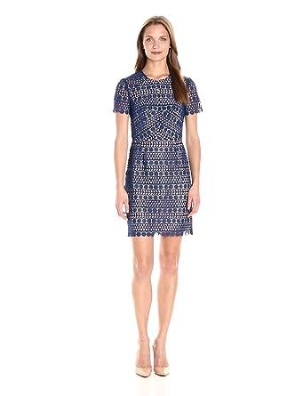 Shoshanna Women's Beaux Mini Dress, Sapphire, 4