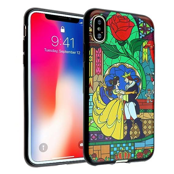 the best attitude ff50a 3eb2d iPhone X Case, Beauty and the Beast iPhone X Case DURARMOR FlexArmor TPU  Bumper Case Ultra Slim ScratchSafe Shock Absorption Cover for iPhone X  Beauty ...