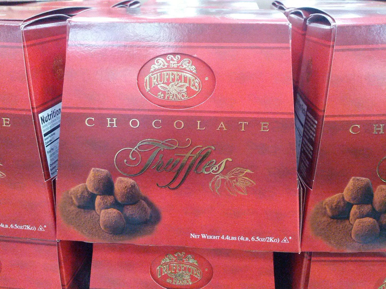 Chocmod Truffettes de France Natural Truffles, Plain, 1000-Gram Boxes (Pack of 6)