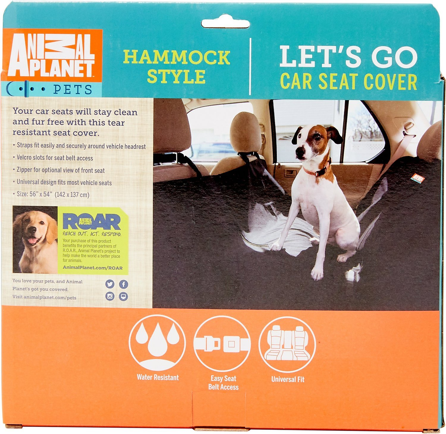 Animal Planet Dog Car Seat Cover 600d - Hammock Seat Cover for Dogs - Universal/Non-slip/Water-Resistant (Grey) by Animal Planet (Image #7)