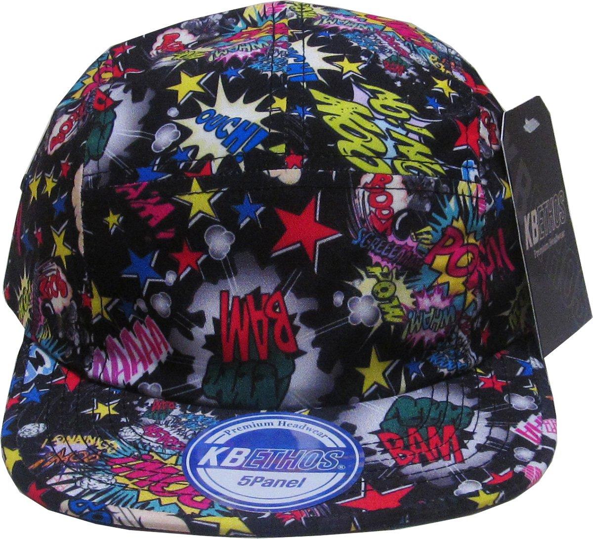 a395686ff79 Amazon.com  KB5-009 BLK Print 5 Panel Army Cap Adjustable Hat  Sports    Outdoors
