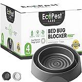 Bed Bug Interceptors - 4 Pack   Bed Bug Blocker (Pro) Interceptor Traps (Black)   Eco Friendly Insect Trap for Bed Legs…