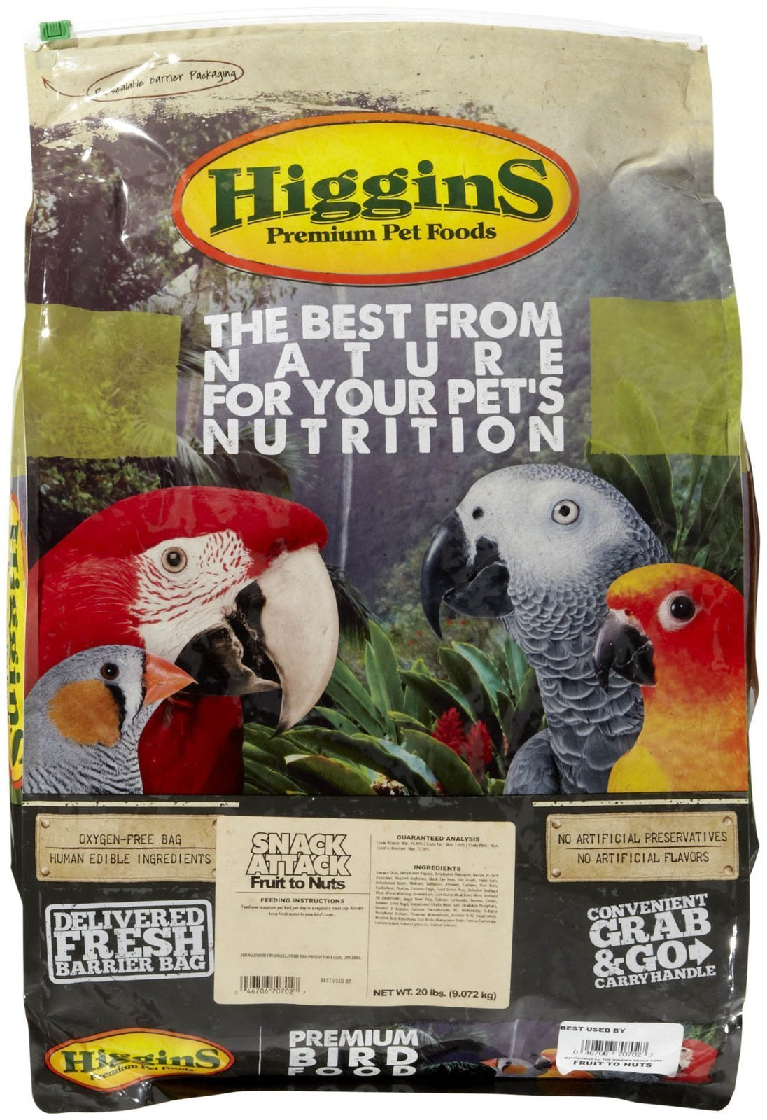 Higgins 466702 Higg Avian Fruit To Nut Treat For Birds, 20-Pound by Higgins