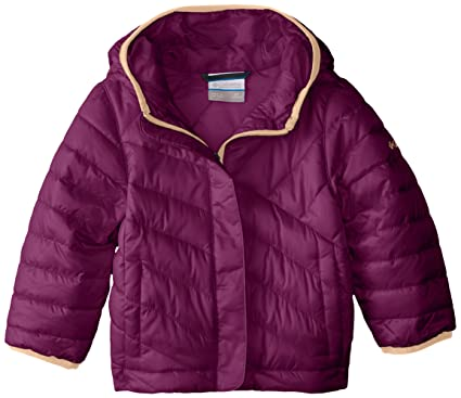 989ac4d8bec Columbia Boys' Little Girls' Powder Lite Puffer Jacket, Dark Raspberry, ...
