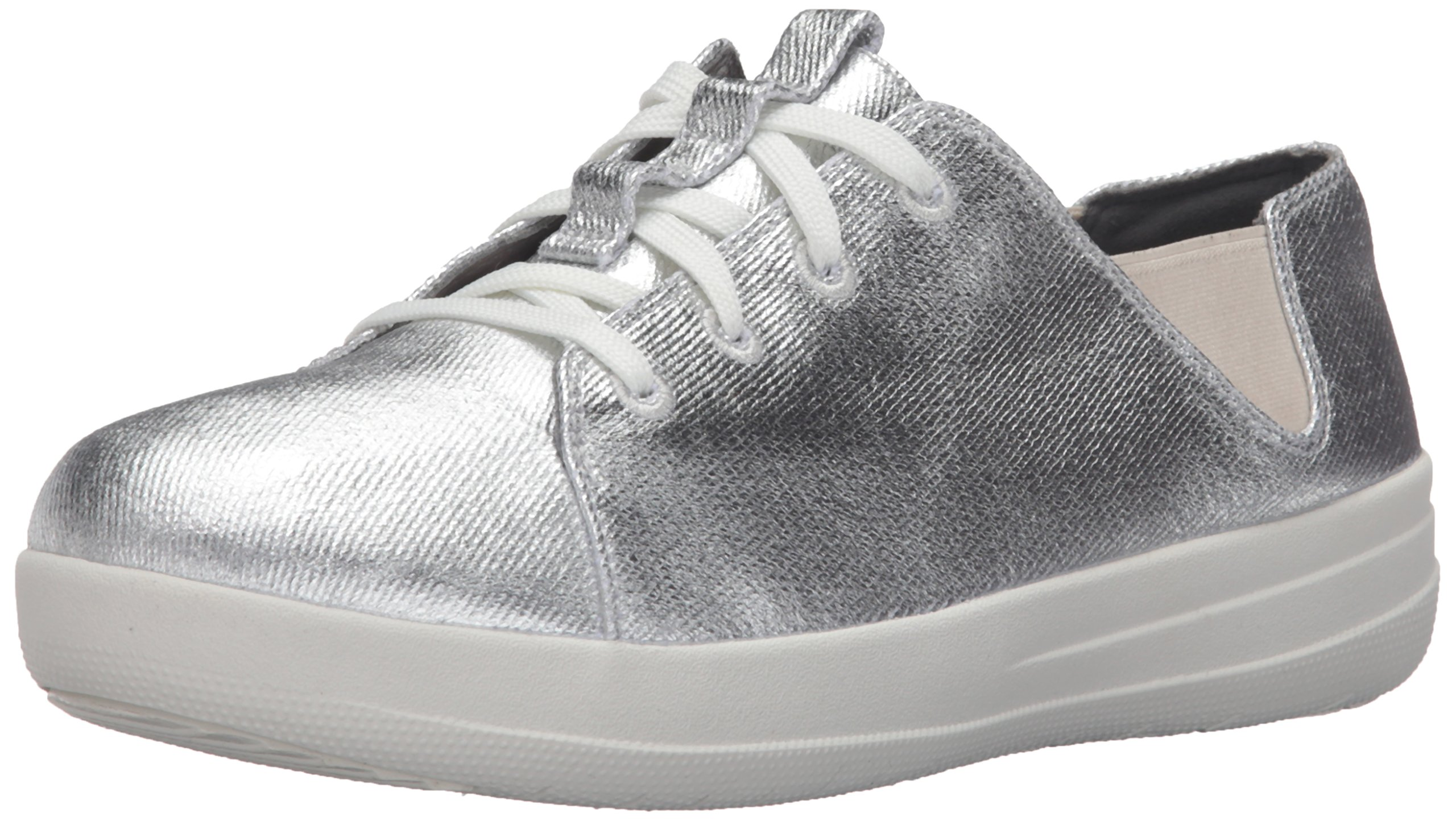 FitFlop Women's F-Sporty Laceup Fashion Sneaker, Silver, 10 M US by FitFlop (Image #1)