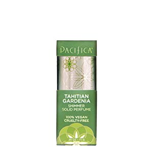 Pacifica Tahitian Gardenia Shimmer Solid Perfume, 0.25 Ounce