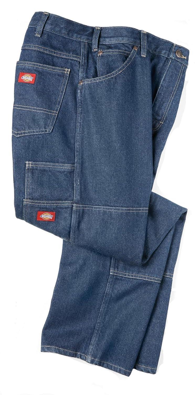 Dickies Mens LD200 Industrial Double Knee Jean-WRINKLED TINT INDIGO BLUE-46x35