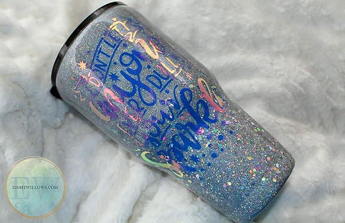 Amazon com: Glitter Tumbler // Glittered Yeti // Holographic