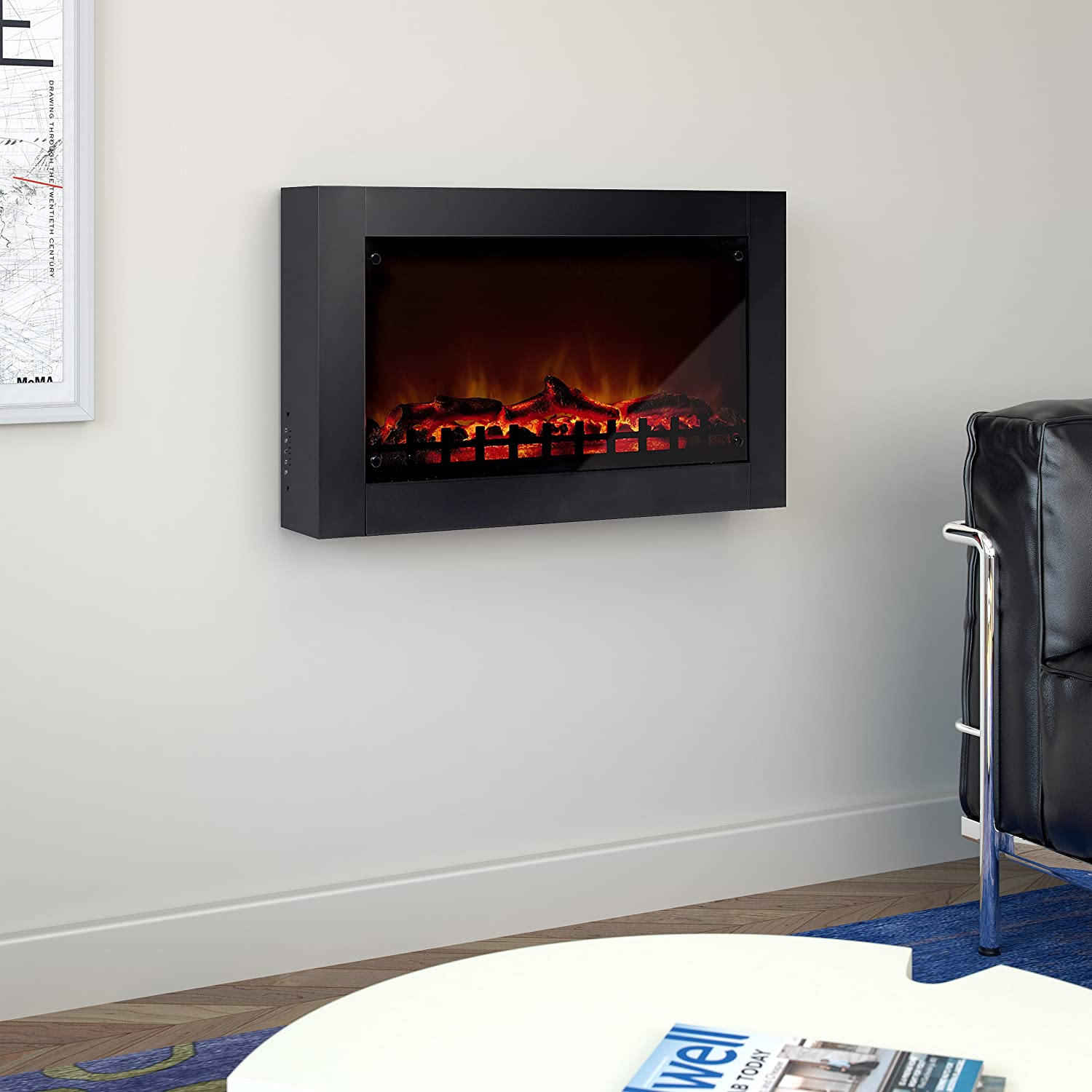 amazon com corliving fpe 203 f wall mounted electric fireplace