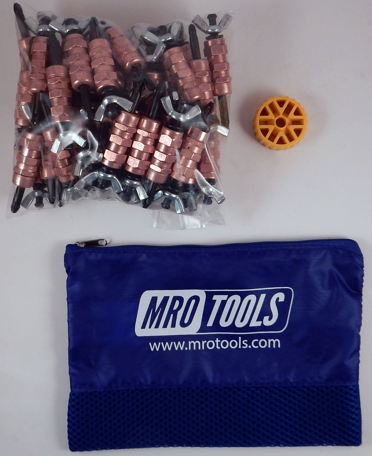 50 1/4 Standard Wing-Nut Cleco Fasteners w/ HBHT Tool & Carry Bag (KWN1S50-1/4) by MRO Tools Cleco Fasteners