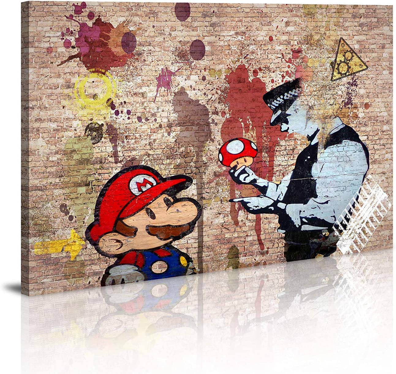 Canvas Prints Framed Wall Art Banksy Art Wall Art for Bedroom Artwork Colorful Figure Street Graffiti Wall Decor Pics for Living Room Decor Ready to Hang