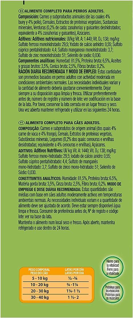 Purina Friskies Trozos en Salsa Perro Adulto Buey, Pollo y Verduras 12 x 1,2 Kg