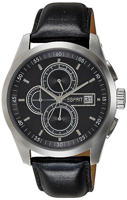 Herren Xl A Esprit Armbanduhr Chronograph Circolo Leder es104091001 ulK1JTFc3