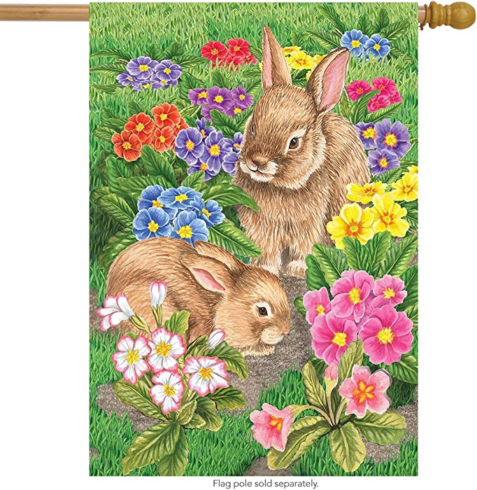 "Briarwood Lane Bunny Friends Easter House Flag Spring Floral Bunnies 28"" x 40"""