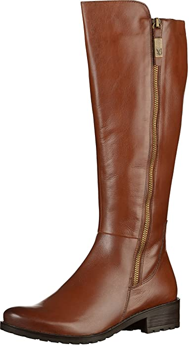 reputable site f3768 5d628 Caprice Footwear - Helena Long Leather Boot, Brandy, 5 (38 ...