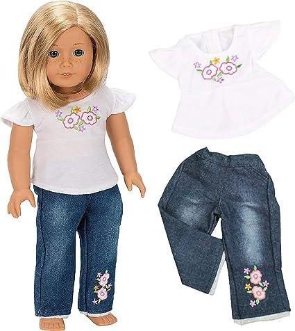 "Black Biker Shorts fits American Girl Dolls 18/"" Doll Clothes"