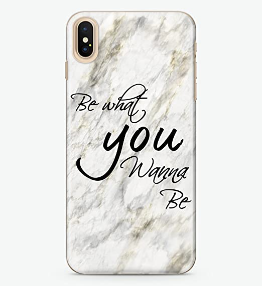 uk availability 126bb 44700 Amazon.com: Hanogram Be What You Wanna be - iPhone X Case: Cell ...