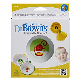 Dr. Brown's Designed to Nourish Feeding Bowl, Set of 2 Tableware (Baby Products) at amazon
