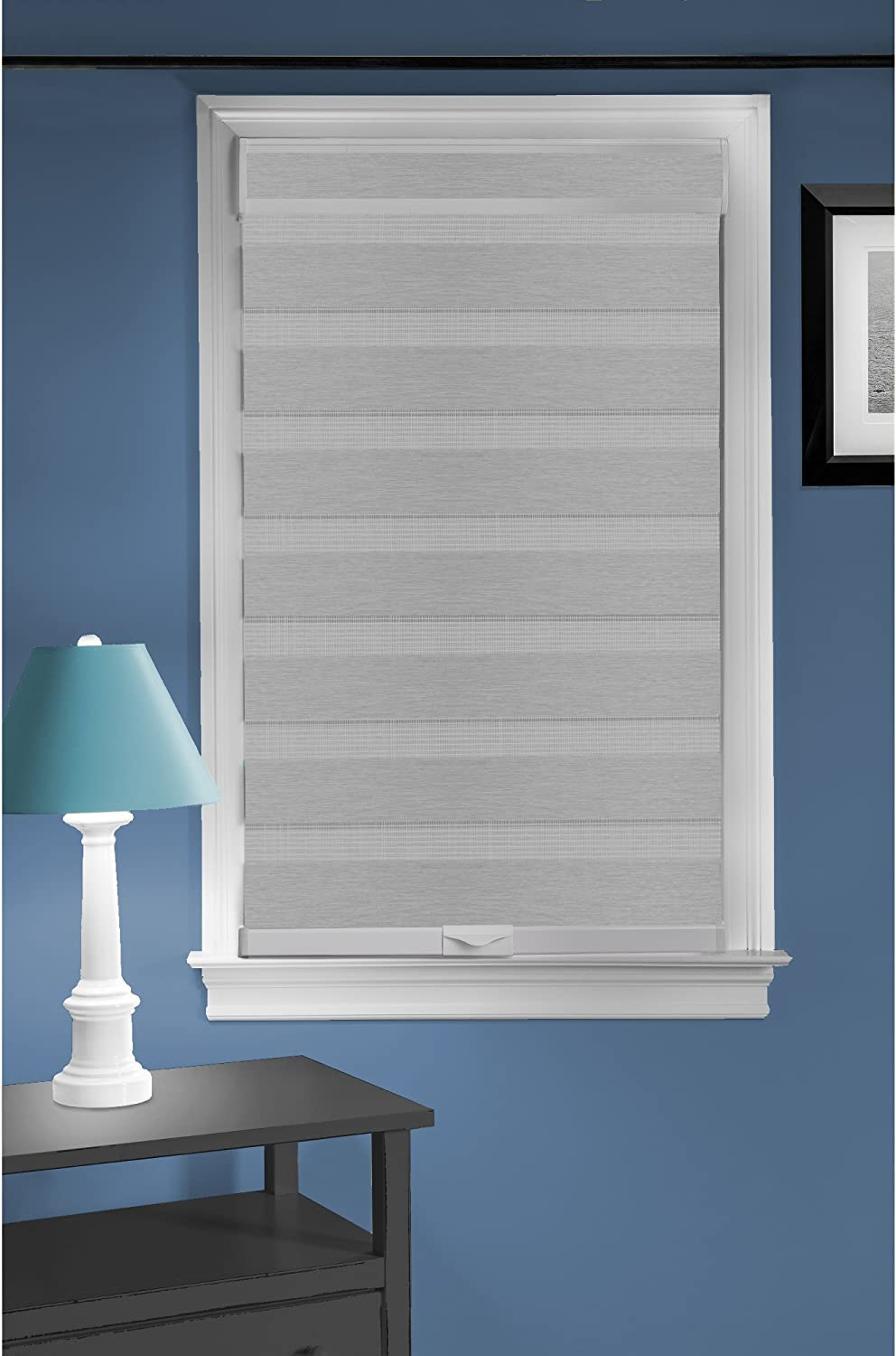 Achim Home Furnishings Cordless Celestial Sheer Double Layered Window Shade, 35