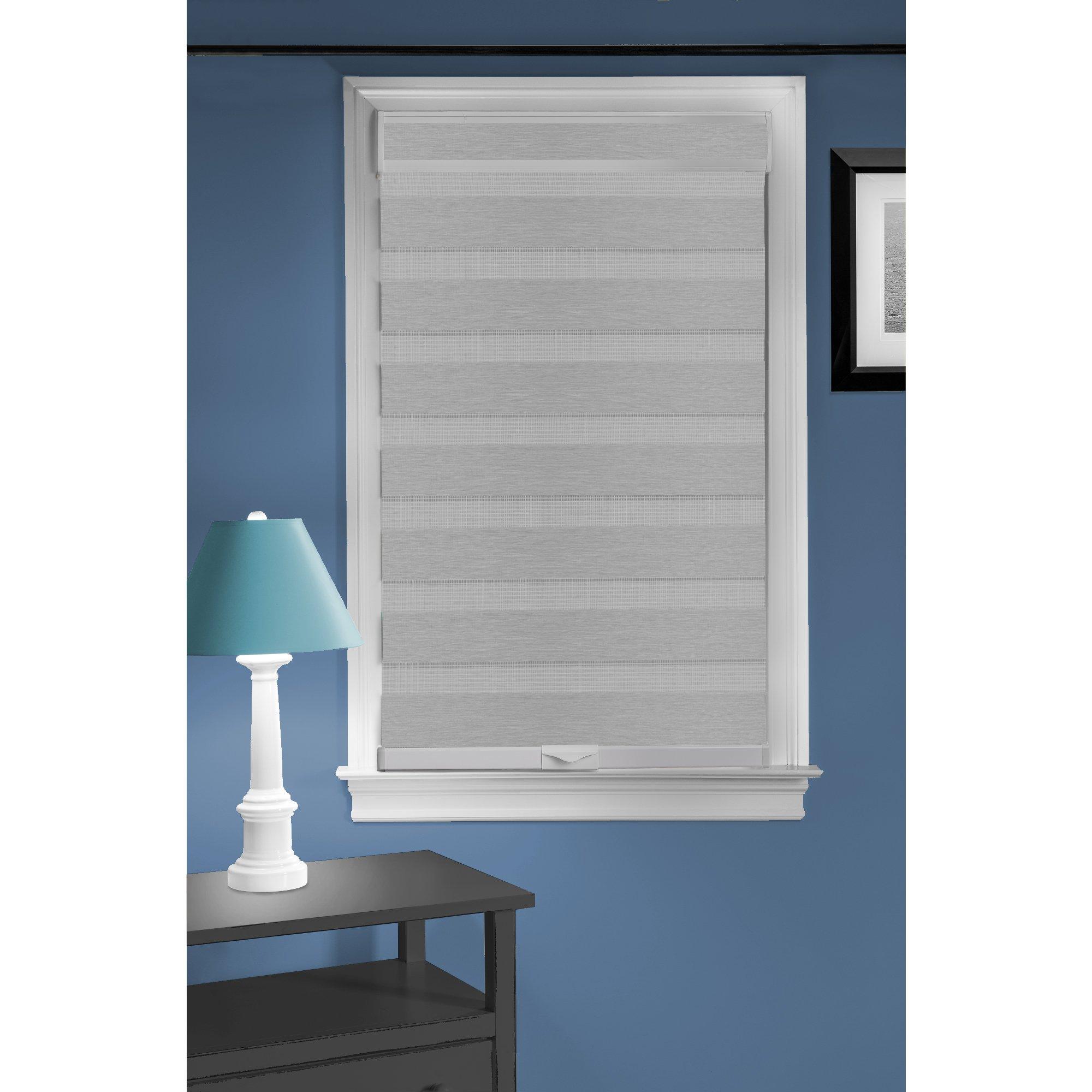 Achim Home Furnishings Cordless Celestial Sheer Double Layered Window Shade, 48'' x 72'', Grey