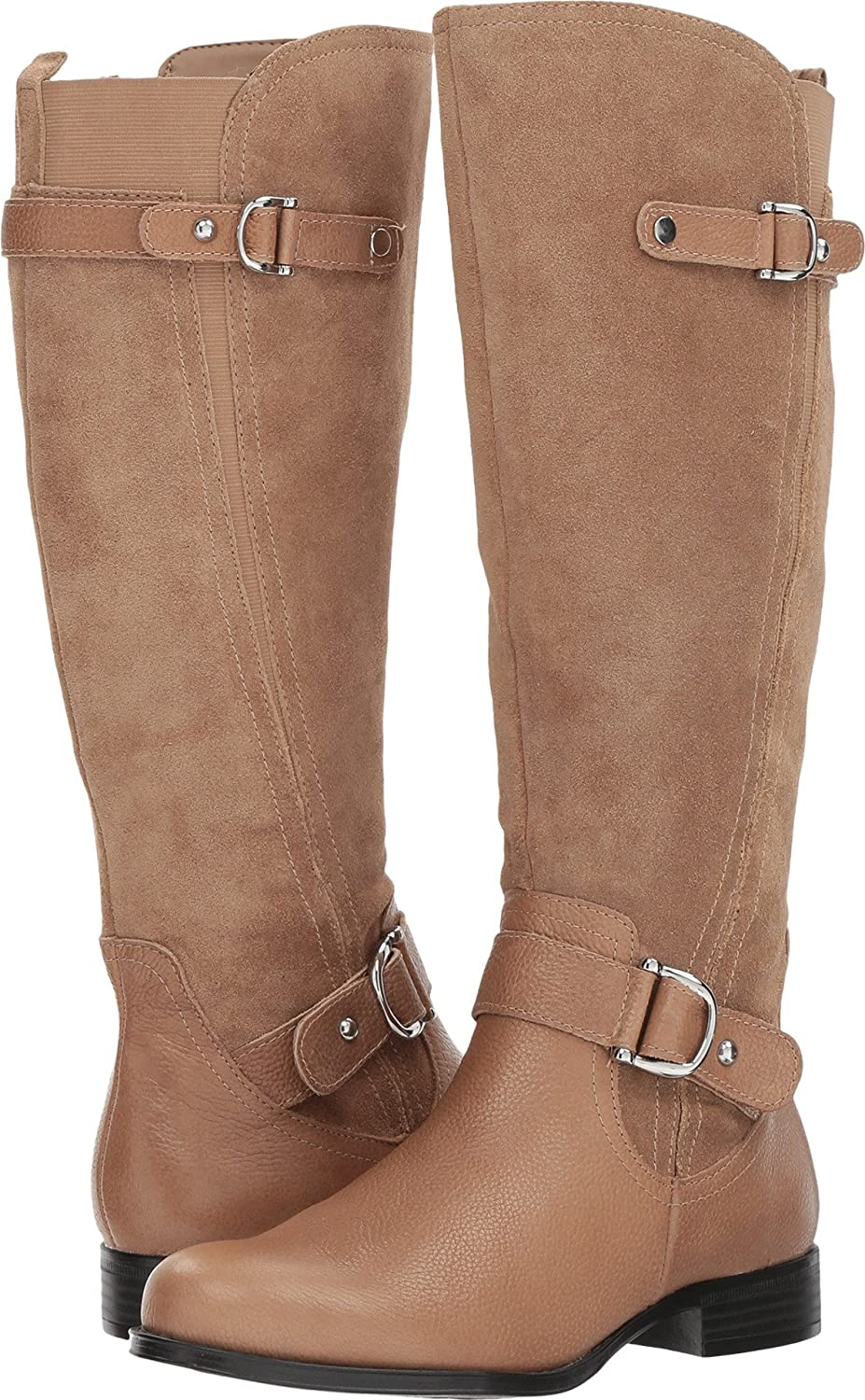 Naturalizer Women's Jenelle Riding Boot B0716CTD1N 7 E US|Oatmeal Leather