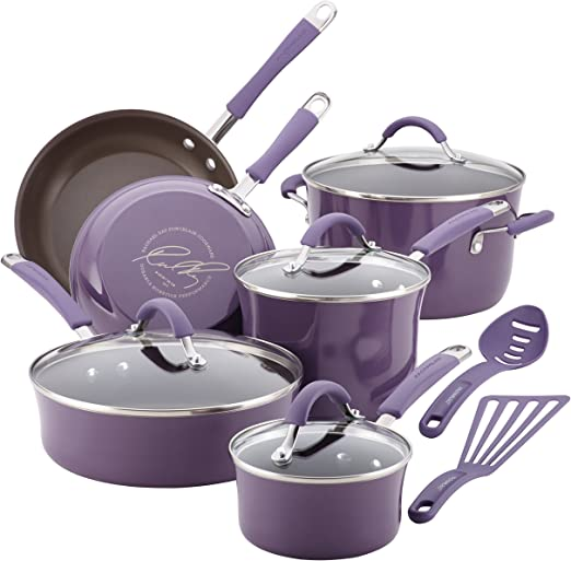 Rachael Ray Cucina 12-piece Nonstick Cookware Pots and Pans Set