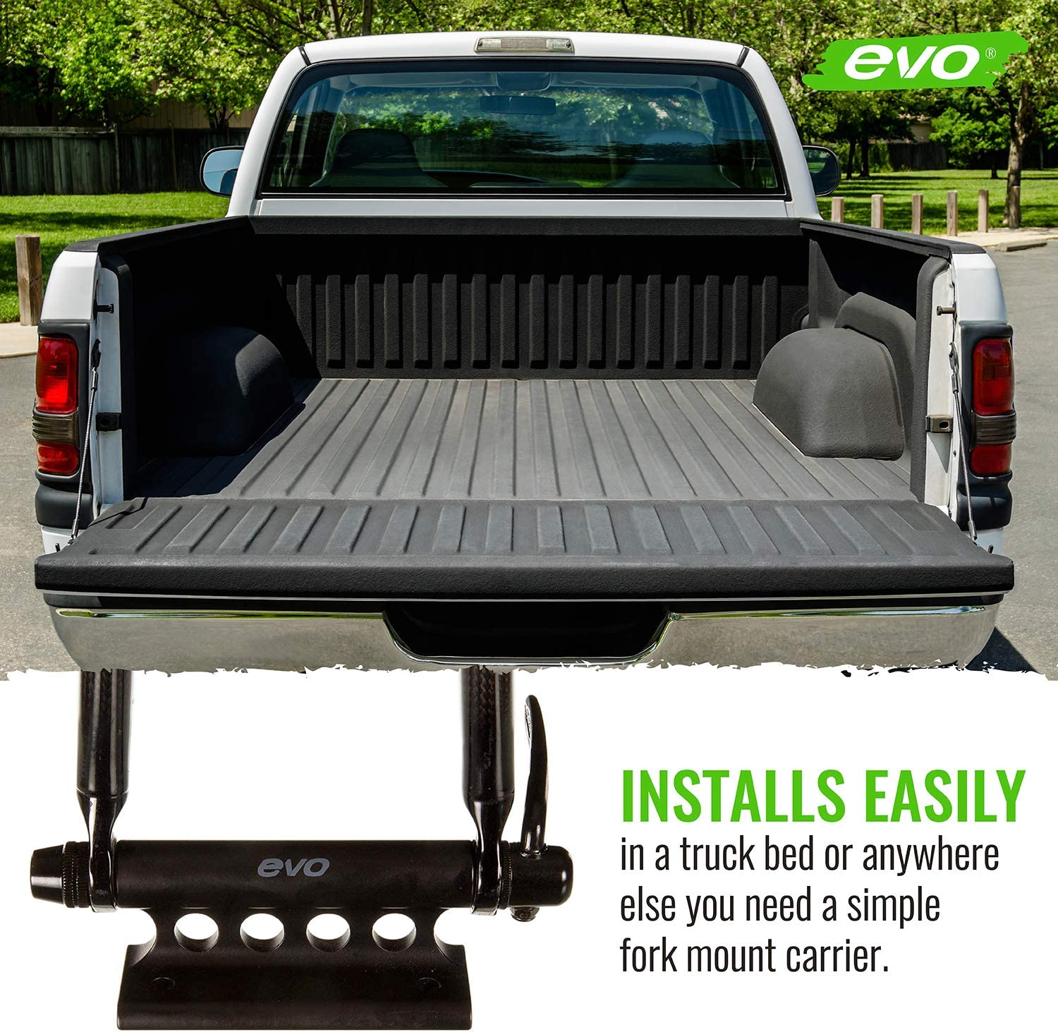 EVO Quick Release Fork Mount Truck Bed Bicycle Carrier