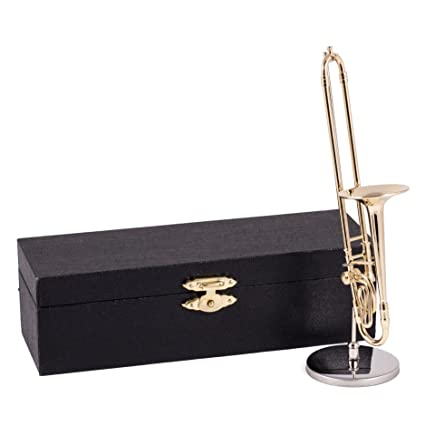 Amazon.com  Broadway Gifts Gold Trombone Music Instrument Miniature ... 6398a9eb2