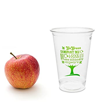 50 transparente Bio Einwegbecher | kompostierbar & nachhaltig ...