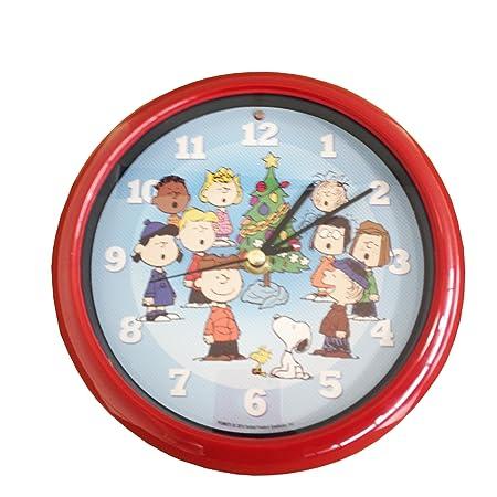 Peanuts Christmas Carol Clock ** Battery Operated ** 12 Carols 1 Per Hour ** Has Light Senor
