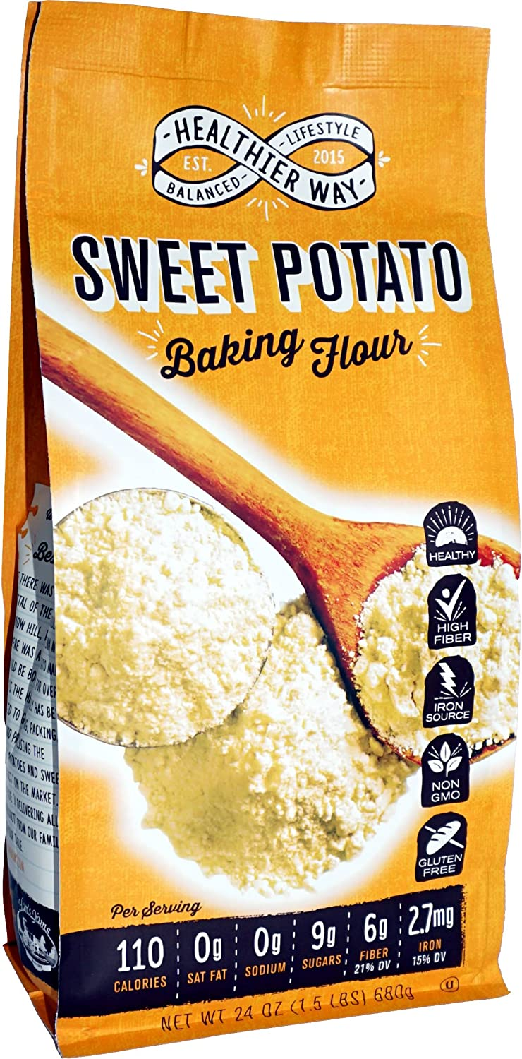 Healthier Way Gluten Free Sweet Potato Flour, 24 oz