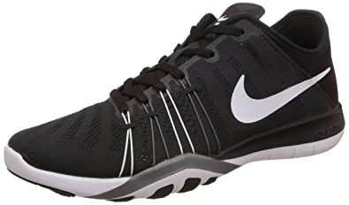 new product 9fdc5 a44ad Nike Free TR 6 Black Cool Grey White Womens Cross Training Shoes