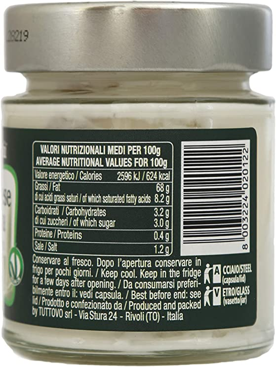 Mayonesa de soja orgánica, sin huevo y vegetariana, sin gluten, sin colesterol y sin lactosa. Artesanía italiana. Apropiado para aquellos que eligen una dieta vegetariana/vegana.: Amazon.es: Alimentación y bebidas