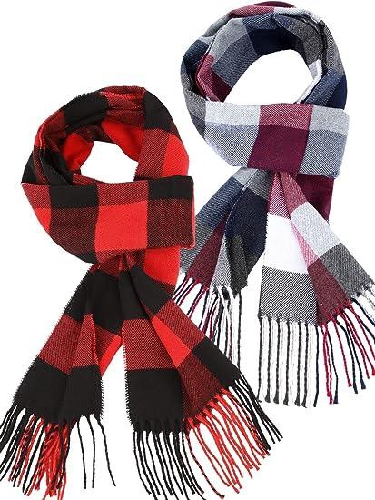 Tartan Check Shawl Scarf Warm Winter Cotton Ladies Mens Womens Gift Unisex