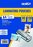 Deskit Laminating Pouches -80 Sheets - A4 Size - 150 Microns - 80 Pack
