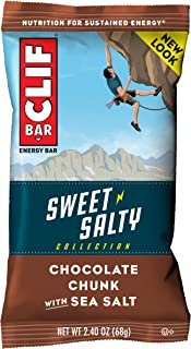 product image for Clif Bar Sweet & Salty Energy Bars - with Sea Salt - (2.4 Ounce Protein Bars,) (Packaging May Vary), Chocolate Chunk, 12 Count