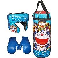 Kotak Sales Kids Cartoon Character Heavy Boxing Kit Sports Punching Bag Gloves Headgear Set for Boys & Girls Birthday Gift (Small 1.5Ft Size)