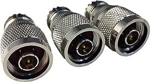 tw-n male-so-239 (3 paquetes) de adaptador coaxial conector N ...