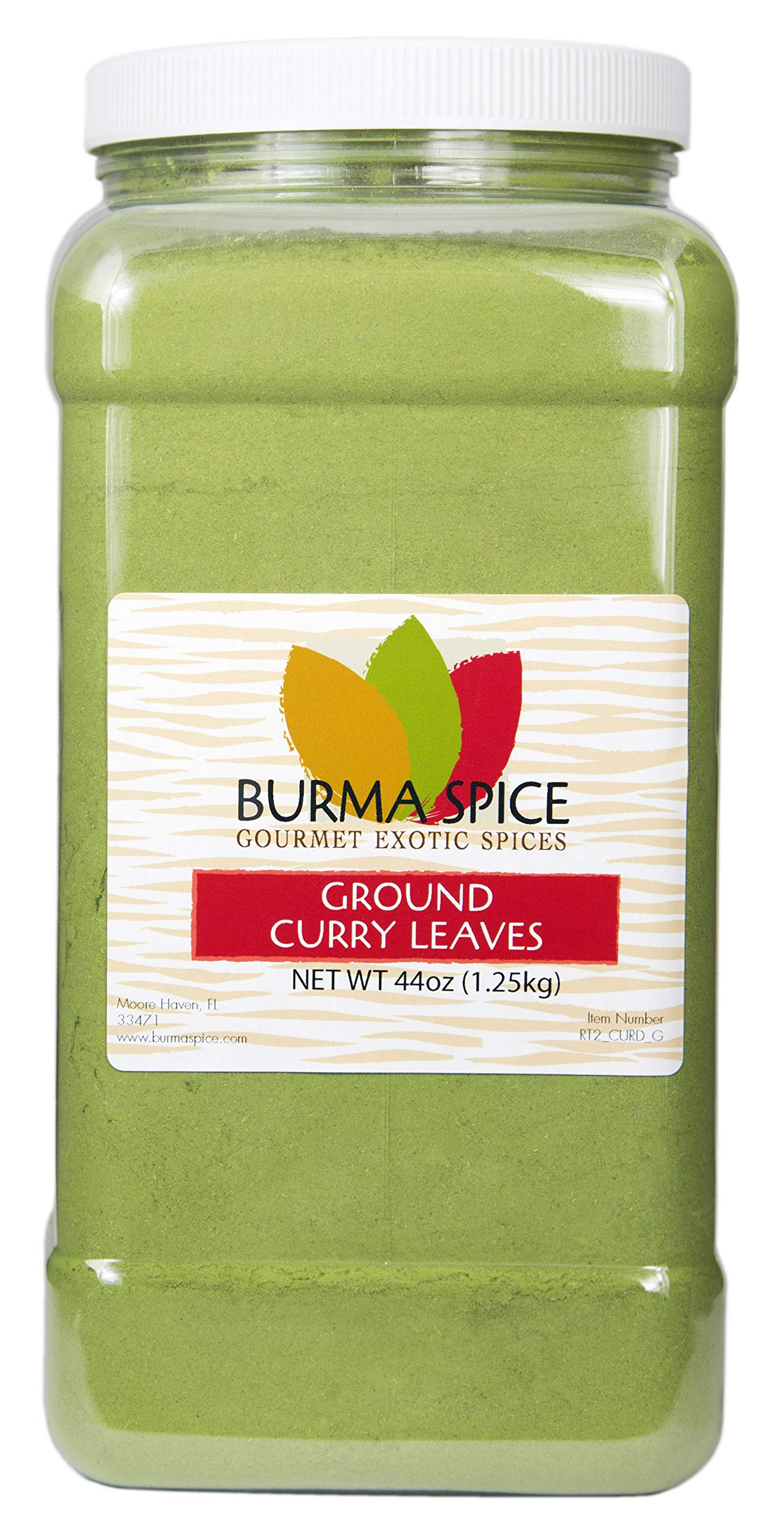 Ground Curry Leaves, Powder : Indian spice also used in Ayurvedic medicine (44oz.) by Burma Spice (Image #1)