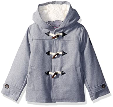 d7b8231d2af0 Amazon.com  Ben Sherman Boys  Toddler Faux Wool Coat with Toggle ...