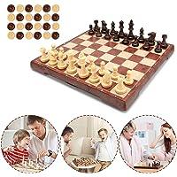 Muscccm Schachspiel Einklappbar Schachbrett Pädagogische Speil mit Magnetischem für Kinder Geburtstag