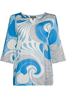 274da5f0a5f Ulla Popken Femme Grandes Tailles T-Shirt col Tunisien imprimé Graphique  715899