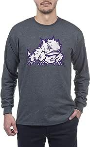 Elite Fan Shop Dark Heather Basic Long Sleeve College Icon T-Shirt
