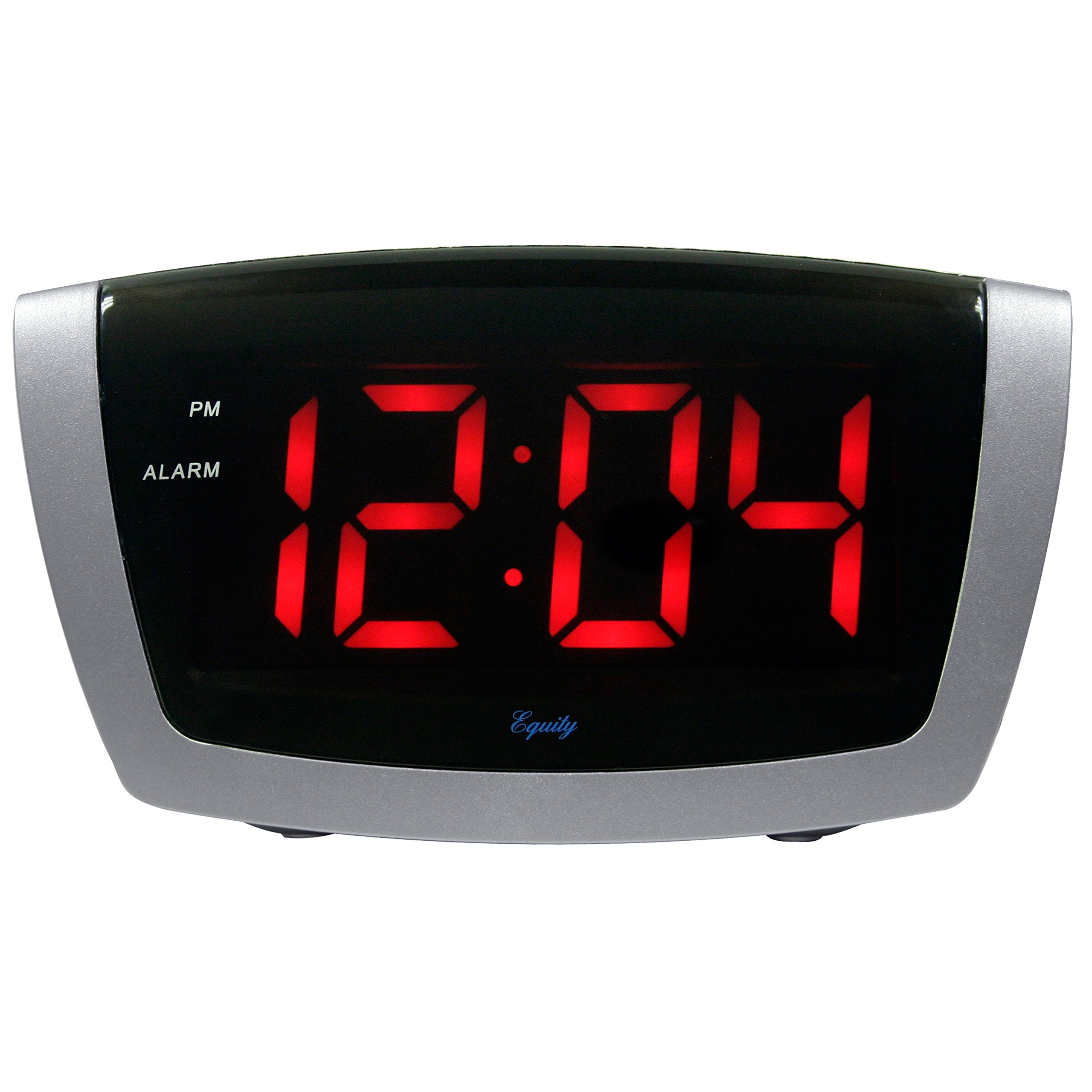 Equity by La Crosse 75906 LED Alarm Clock with High/Low Dimmer, 1.8'', Red