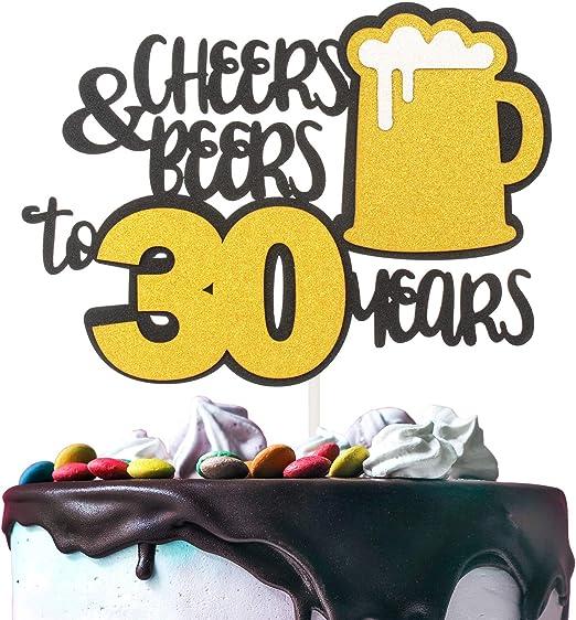 Decoración para tarta de 30 años de color dorado con ...