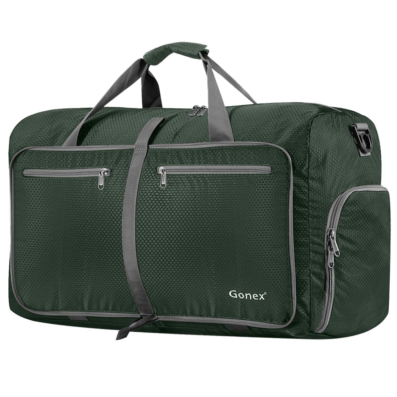 Gonex 80L Foldable Travel Duffle Bag Water Repellent & Tear Resistant Black