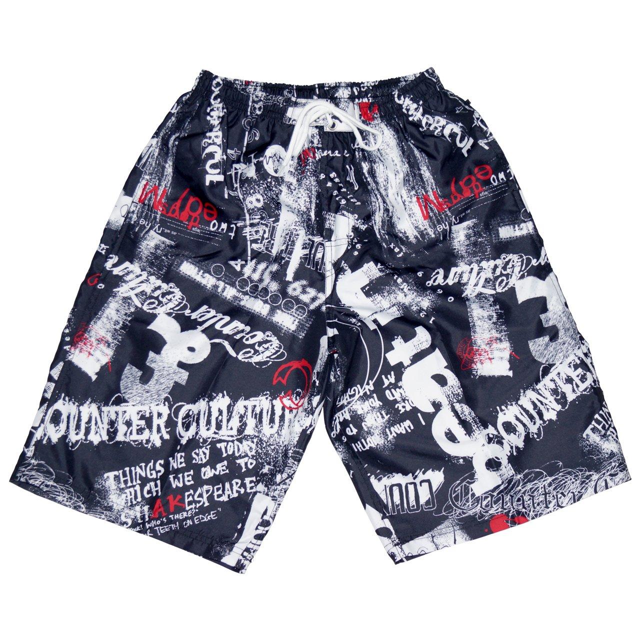 CROSSROAD Men's swimming trunks 0239-338(M, Black)